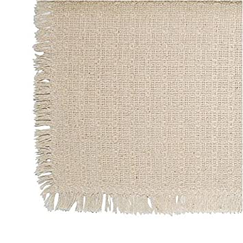 Merveilleux 70 Inch Round Mountain Woven Homespun Tablecloth 100% USA Cotton, Solid  Natural