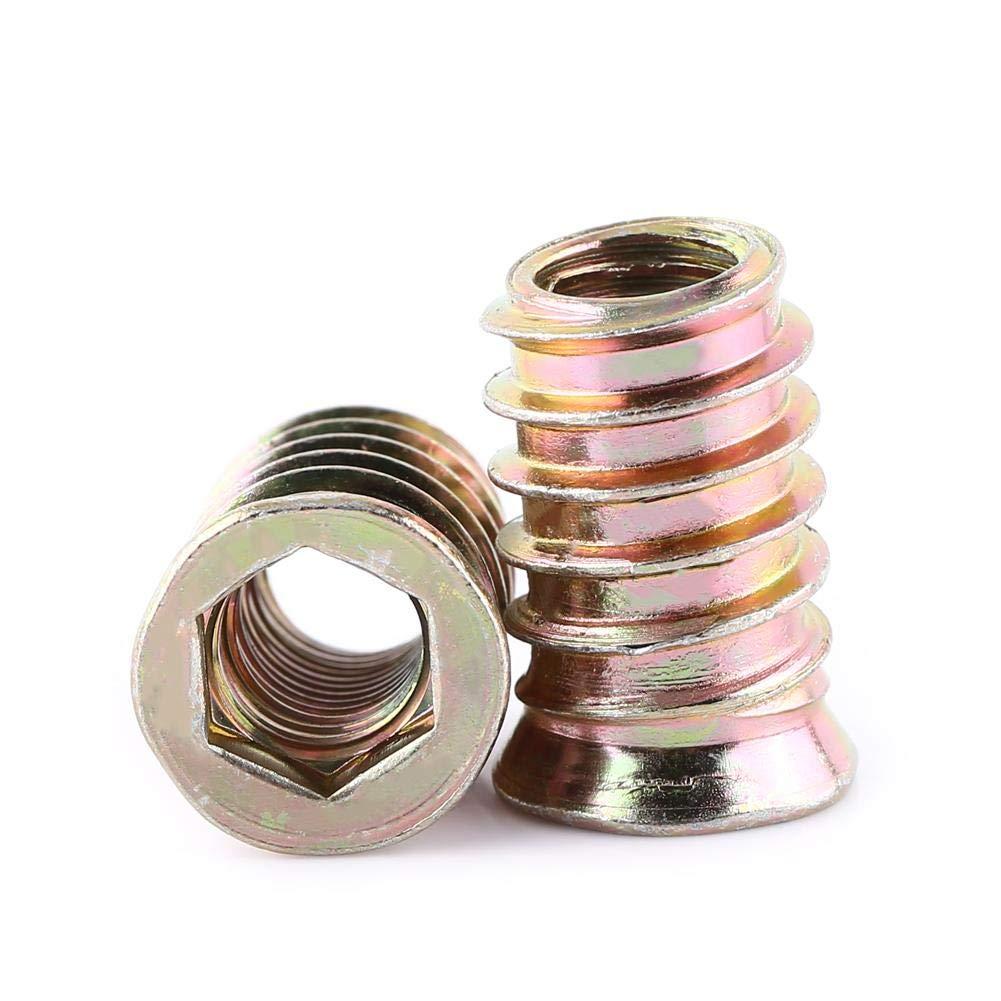 M6*13mm 20 pcs Tuercas Hexagonales Juego de Surtido de Tuercas de Remache M6//M8//M10 Tuercas Acero Carbono Galvanizado de Rosca Completa