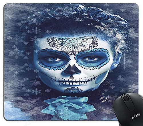Gaming Mouse Pads Santa Muerte Concept Winter Ice Cold Snowflakes Frozen Dead Folkloric Mouse pad for Notebooks,Desktop Computers Mini Office Supplies Non-Slip Mouse Mats - Frozen Notebooks Mini