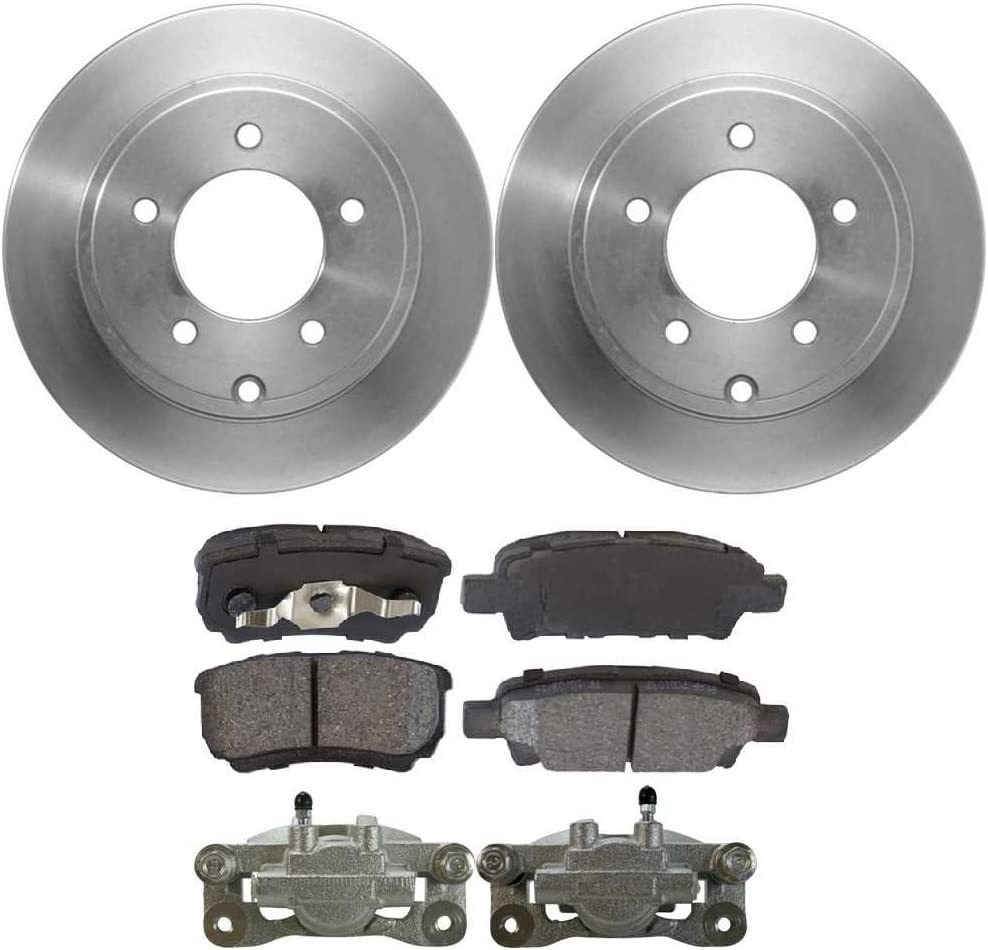 Auto Shack BCPKG00056 Rear Brake Rotors Calipers and Performance Ceramic Pads