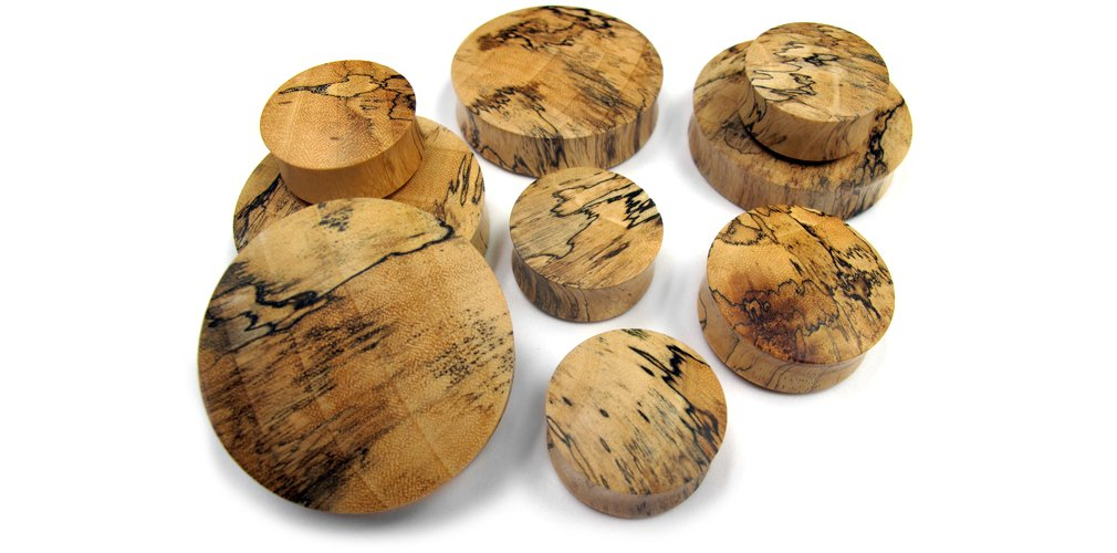 Urban Body Jewelry 1 Pair of 1 & 3/4 Inch (44mm) Tamarind Wood Plugs - Double Flare