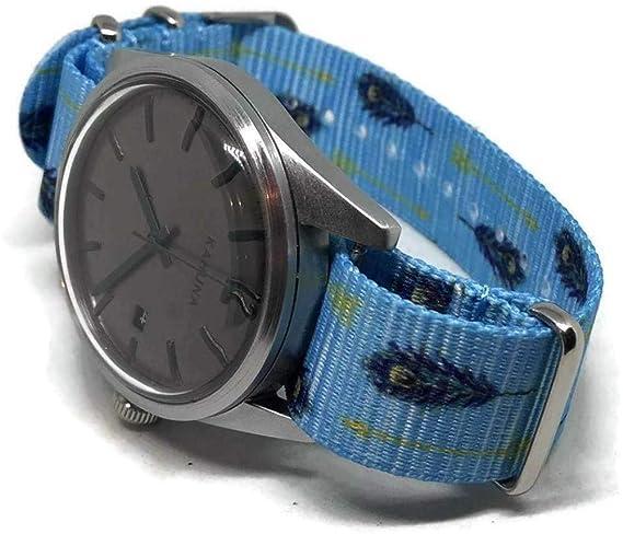 NATO Zulu G10 - Correa para Reloj (20 mm, Acero Inoxidable ...