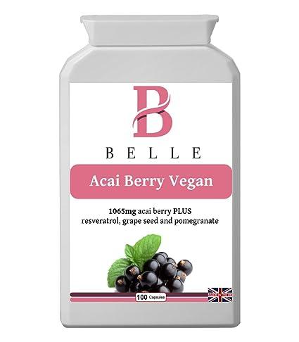 Belle® Acai Berry 1065mg Vega adelgazar cápsulas suplemento ...