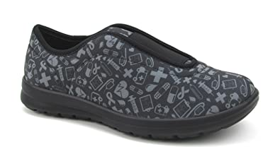 520d1b6a1af9 Move Women s Cute Memory Foam Elastic Gore Nursing Shoes - Printed -  Florence (5