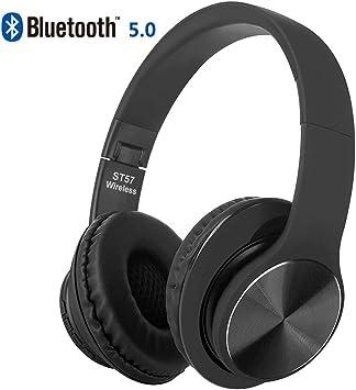 oushizengdouquhua Auriculares Diadema Bluetooth Inalambricos, Cascos Bluetooth Inalambricos Plegable con Micrófono Hi-Fi Sonido Estéreo,para iPhone, Samsung, Huawei,TV, PC(Negro): Amazon.es: Electrónica