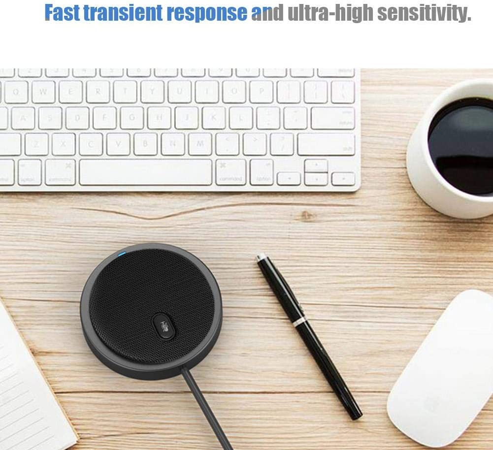 Computer microphone,M2 Wired 360/° Pickup Audio Video Omnidirectional Microphone Desktop Conference Computer,USB Microphone Play 360/° Conference Boundary PC Microphone Omnidirectional Portable Computer