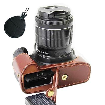 First2savvv funda pistolera de piel sintética para cámara réflex ...