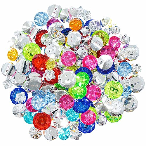 Plastic Buttons Bag - Small Plastic and Jewel Button Grab Bag – Multiple Colors, Styles and Sizes – Crafting, Scrapbooking and More