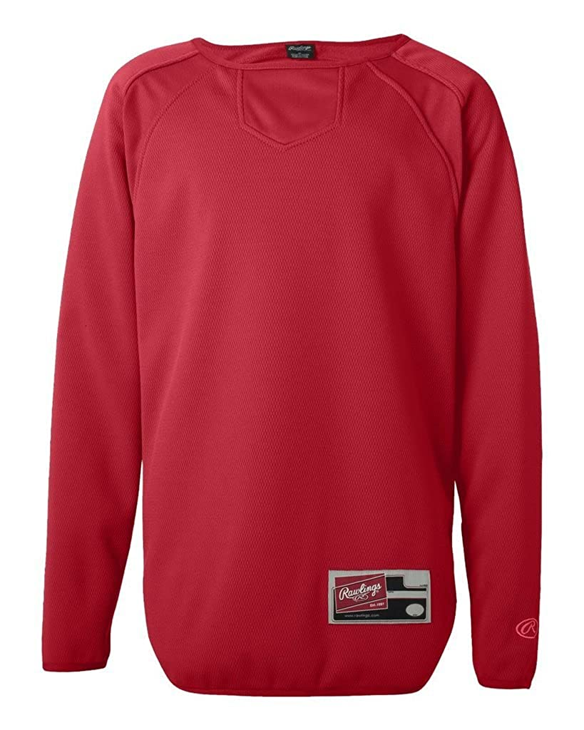 Rawlings Youth Active Sports Long Sleeve Flatback Mesh Fleece Pullover