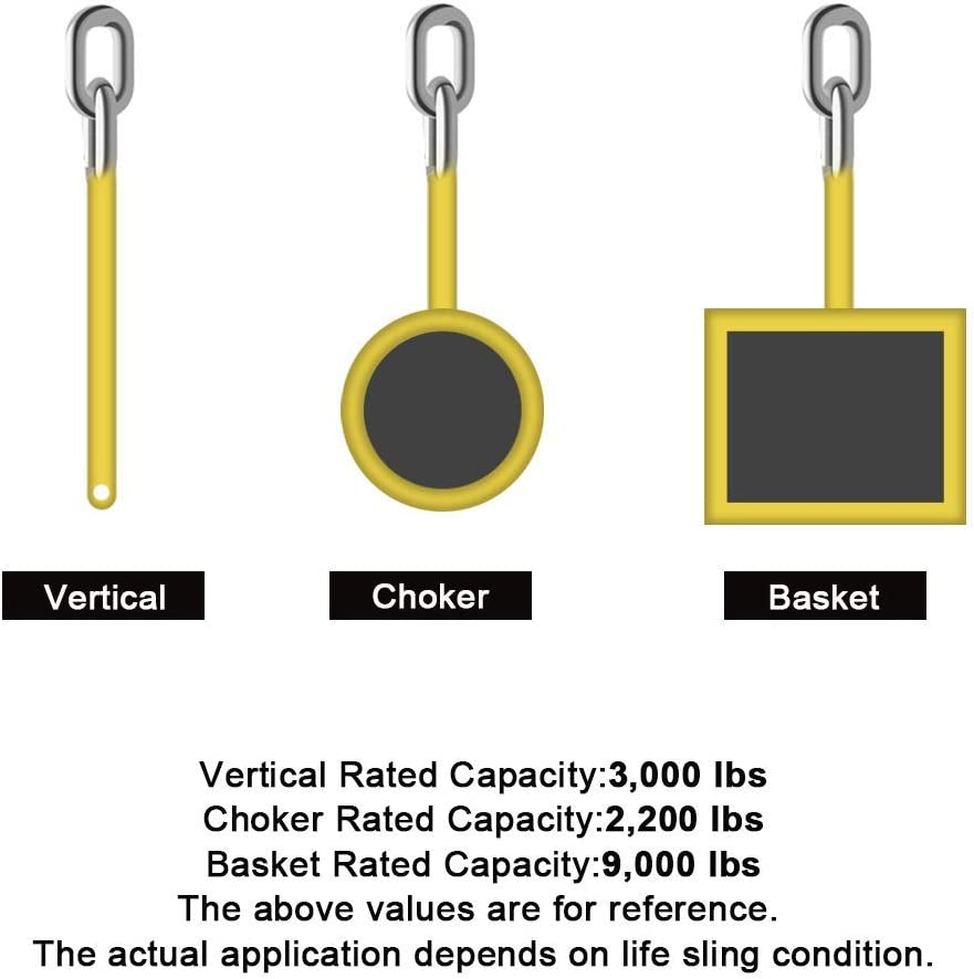 CarBole 6 x 2 Lifting Sling with Flat Loop,2 Pack Strong Heavy Duty Duplex Polyester Webbing Cargo Lift Sling Strap Strop Max Breaking Strength 9000lbs