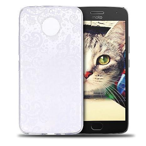 Funda Moto G5S Plus, RosyHeart Ultra Delgado TPU Goma Carcasa para Motorola Moto G5S Plus Ultrafina Suave Silicona Transparente Gel Parachoques Caso ...