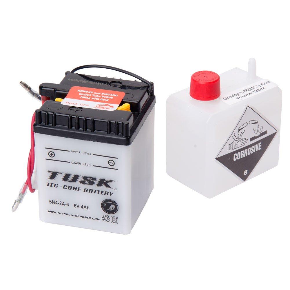 Tusk tec-coreバッテリーwith酸6 N42 a4 – Fits :ホンダxl185s 1979 – 1983   B00V946KZ0