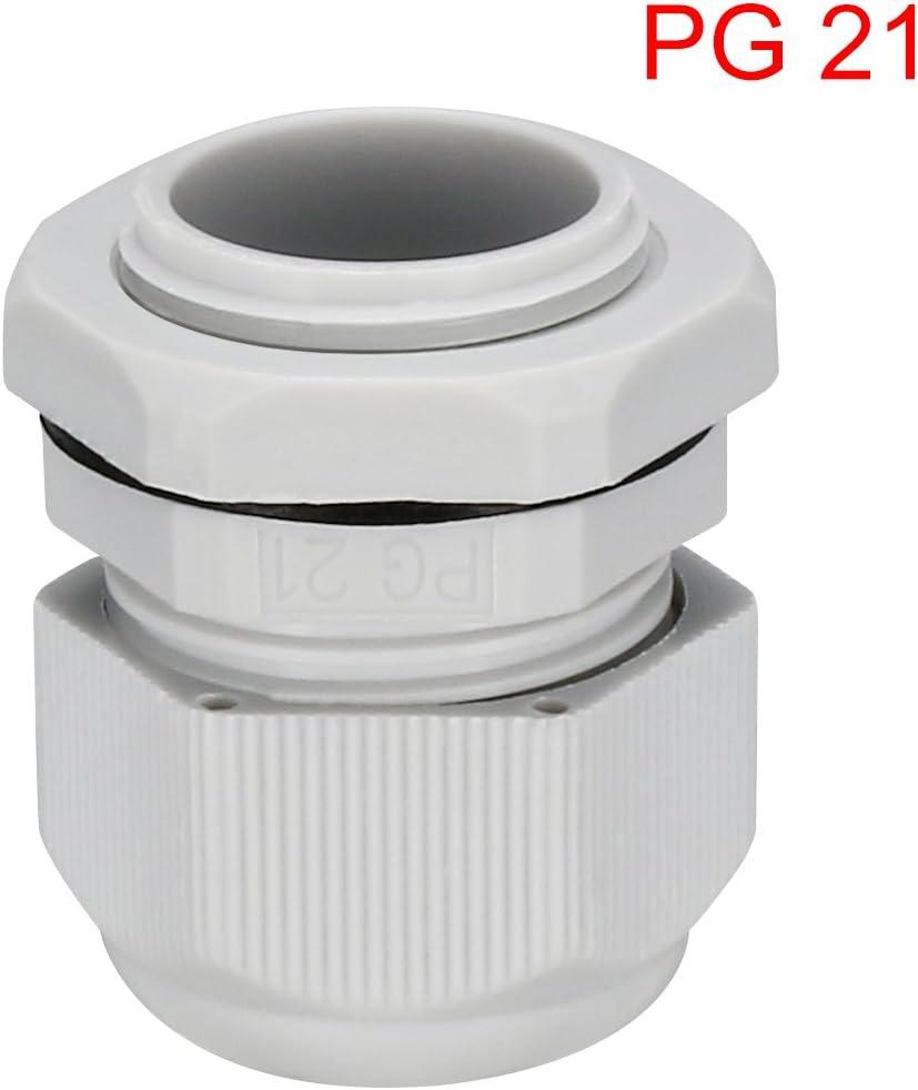 sourcing map 5pcs presse-/étoupe PG13.5 Joint /étanche blanc r/églable fil 6mm-11mm/Ø