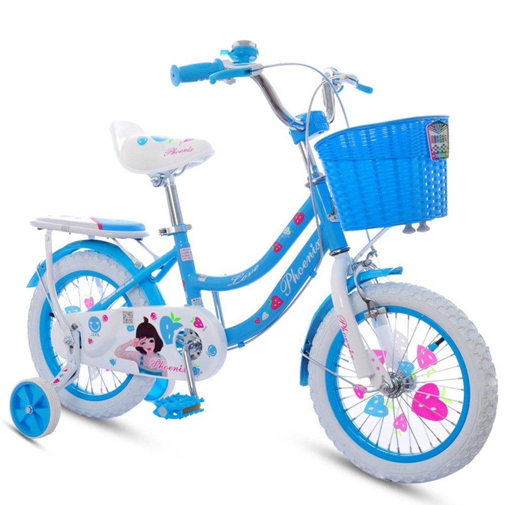 美しい 家子供用自転車、女の子用ベビーカー、子供用サイクリング (色 : 青, サイズ さいず : 110cm) B07CY3FK8W 110cm|青 青 110cm