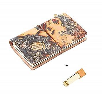 Daptsy - Cuaderno de notas de piel, con cuaderno de dibujo ...