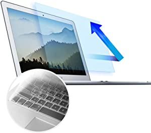 MacBook Air 13 Inch Anti Blue Light Screen Protector - Anti Glare Eye Protection Filter for 2010-2017 Old MacBook Air 13 Model A1369 A1466 with Ultra Thin Keyboard Cover Protector