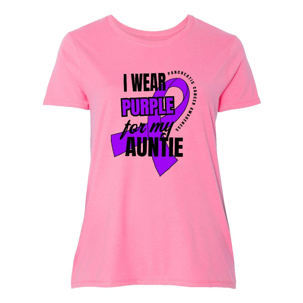 inktastic I Wear Purple for My Great Aunt Pancreatic Cancer Baby T-Shirt