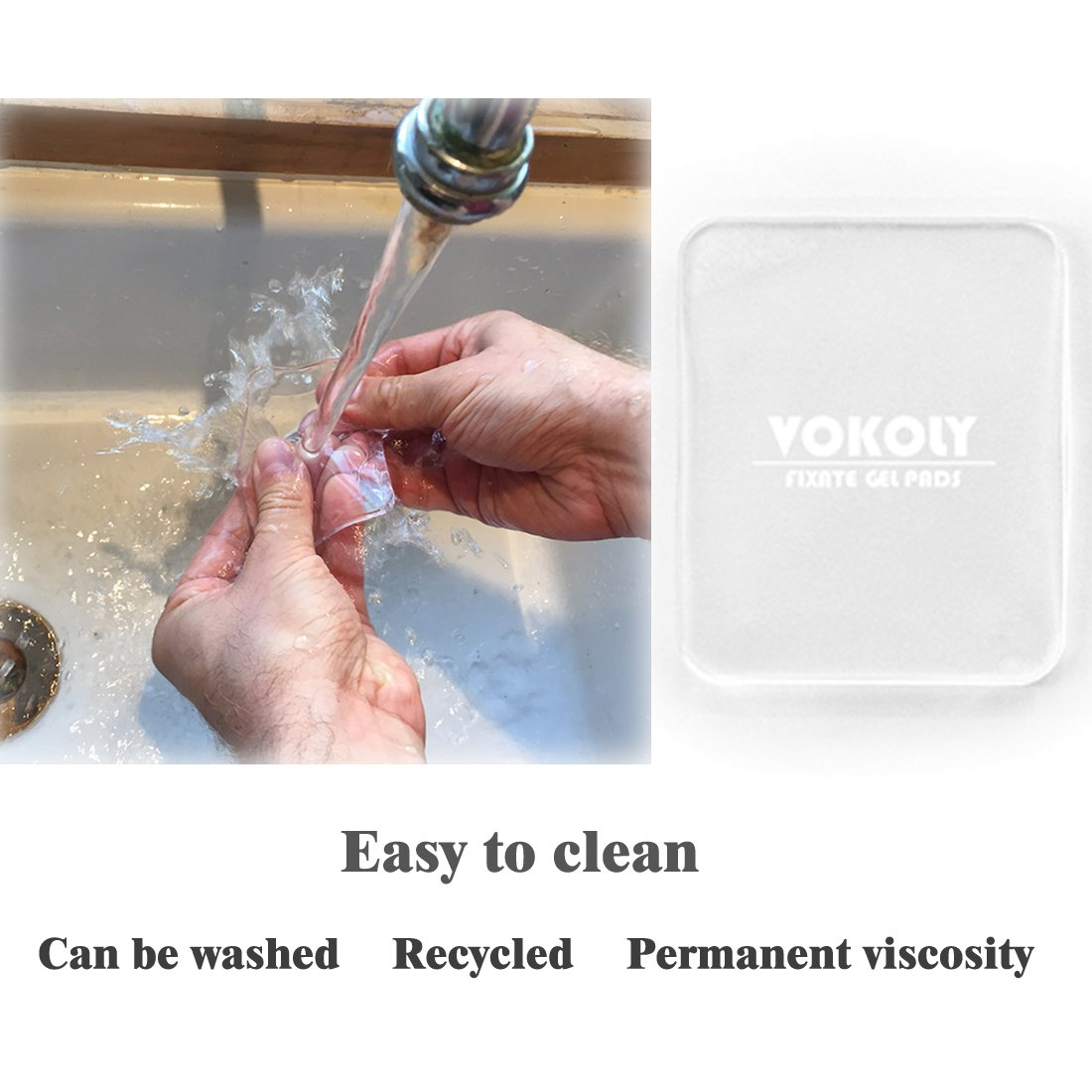 VOKOLY, Universal non-slip mats,Sticky Anti-Slip Gel Pads,Stick to Anywhere&Holds Anything (8 PACK Clear) by VOKOLY (Image #6)