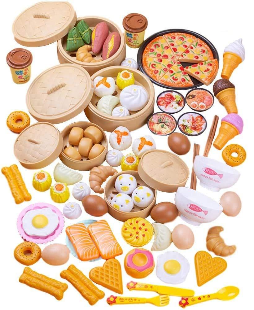 87 Piece Toy Set Luxury Kitchen Dim Sum Mould 3 Years Old
