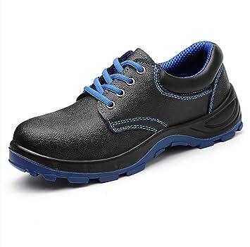 ZYFXZ Zapatos de Seguridad Calzado de algodón liviano de Alta Resistencia Superior a Tope de Invierno para Hombre, Soldador eléctrico, Zapatos de Trabajo ...