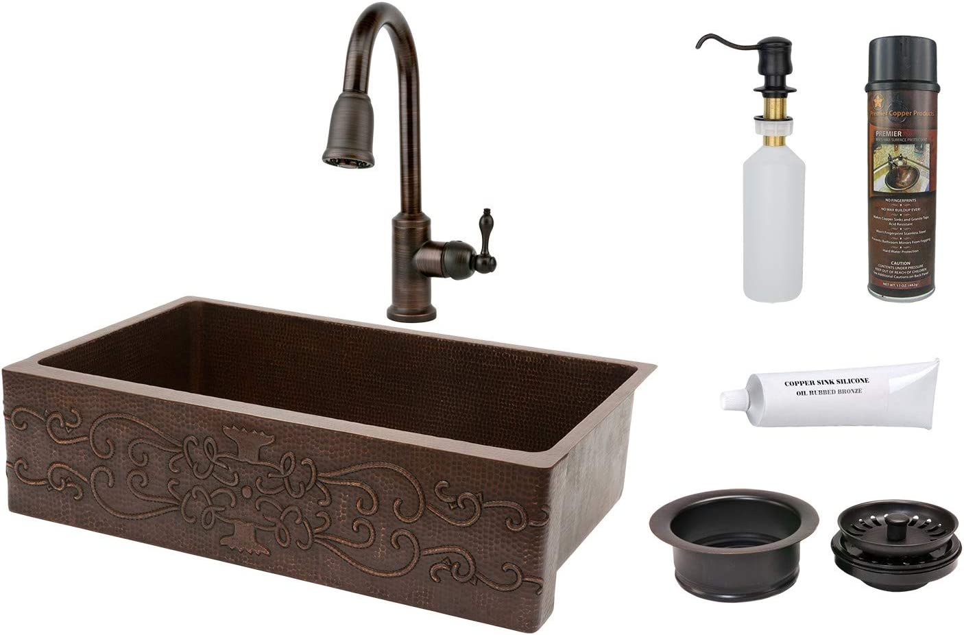 Amazon Com 35 X 22 Apron Single Basin Kitchen Sink With Faucet Kitchen Dining