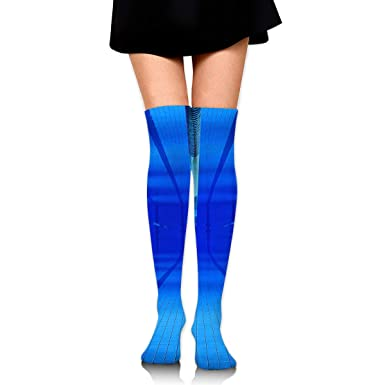 High Elasticity Girl Cotton Knee High Socks Uniform Swimming Pool Women Tube Socks