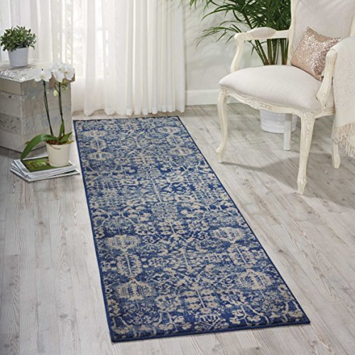 Nourison Somerset ST57 Traditional Rustic Vintage Navy Blue Area Rug 2 Feet by 5 Feet 9 Inches, 2′ x 5'9″