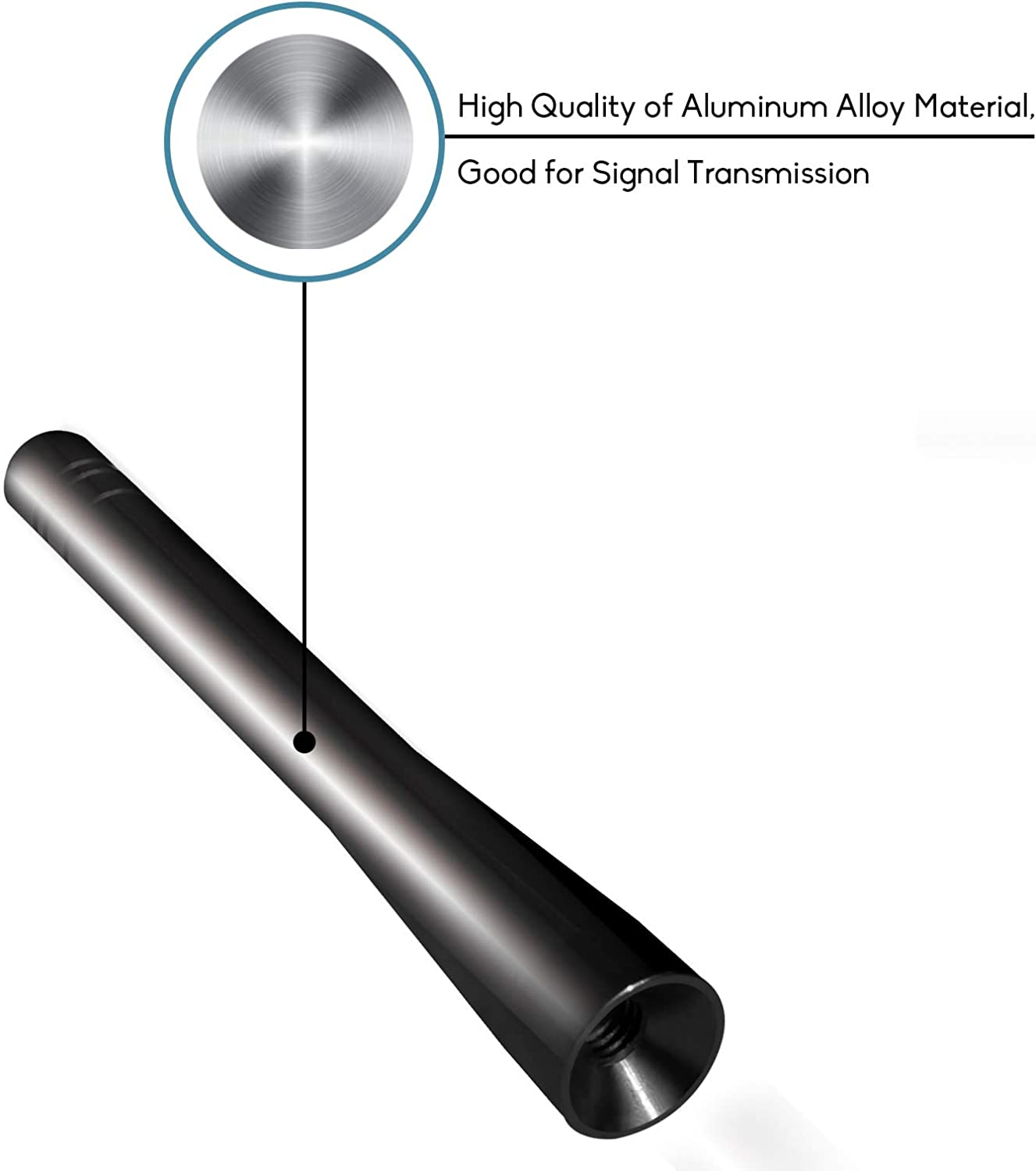 DeepRoar Automotive Replacement Antenna Fit for Honda S2000 1999-2009 Vehicle Electronics Accessories of Good AM//FM Reception Signal 4 in Black
