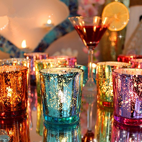 Colorful Glass Cup Candlestick Candle Holder Candelabra Romantic Home Wedding Decor Gift