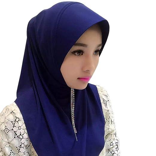 Bufanda De Hijab Bufanda Warme De Lista Mujer Para Mujer Casquillo De Hijabs De Color Sólido Bufandas De Hijab Abrigo De Mujer Turban Hijab: Amazon.es: Ropa ...