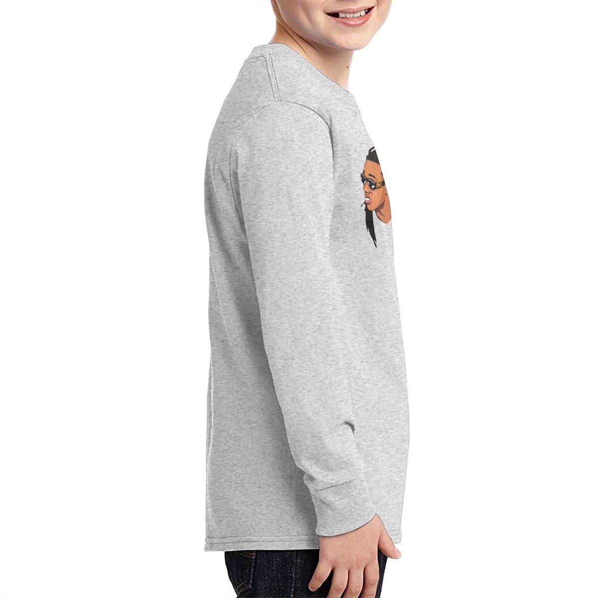 TWOSKILL Youth Hip Hop-Migos Long Sleeves Shirt Boys Girls