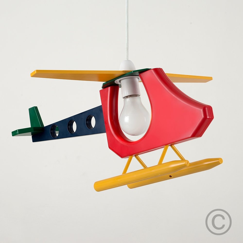 Cool Childrenu0027s Bedroom / Baby Nursery 3D Colourful Helicopter Ceiling Cot Mobile L& Pendant Light Shade Amazon.co.uk Lighting & Cool Childrenu0027s Bedroom / Baby Nursery 3D Colourful Helicopter ... azcodes.com