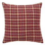 VHC Brands Americana Classic Country Pillows & Throws - Arlington Red Fabric 16'' x 16'' Pillow
