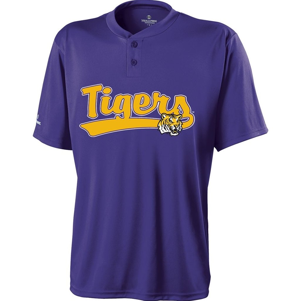 Holloway LSU Tigers Ball Park Jersey (XXX-Large, Purple/Gold) by Holloway