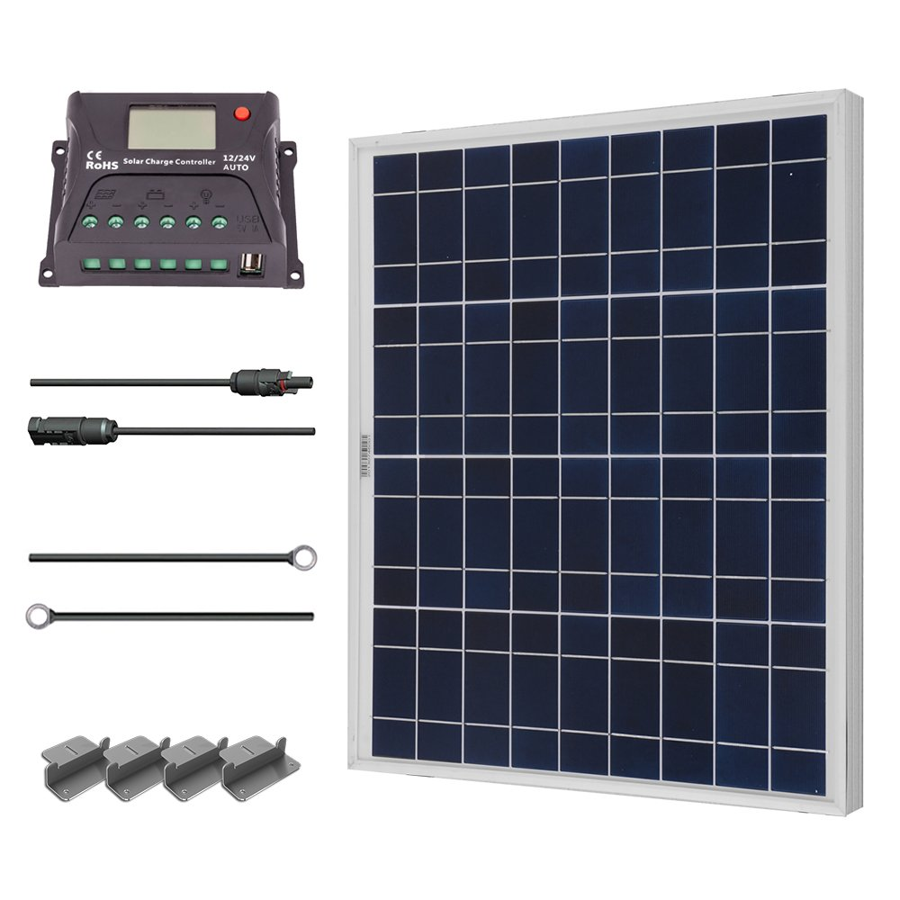 Solar Power Kits for Homes Renogy 50 Watt 12 Volt