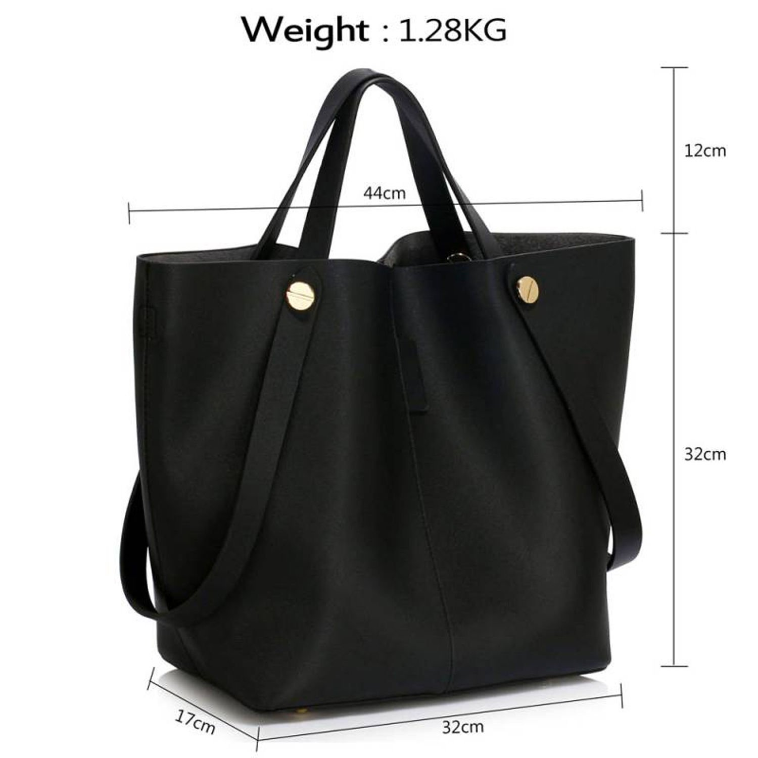 10277250a81 Xardi London Women Tote Shoulder Bag Large Ladies Handbag Faux Leather Hobo  Twin Handles Holds A4 Folders Books Must Have Gift for Girls School College