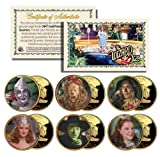 WIZARD OF OZ Kansas US Statehood Quarter 24K Gold Plated 6-Coin Set *Licensed*
