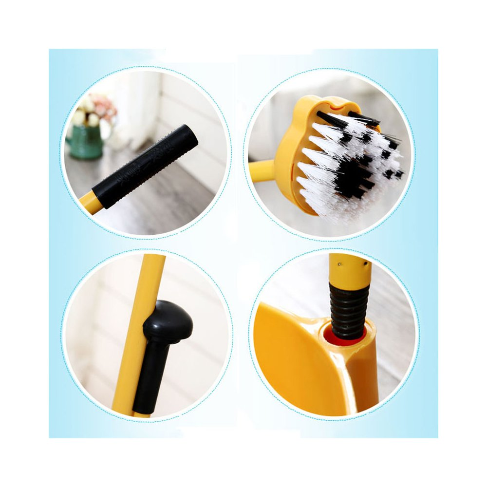 Aboo 5 Pieces Removable Cute Cleaning Tool Set Mop Dustpan Broom Brush and Long Handle Brush Animal Pattern for Children Classroom Home (Brown) by Aboo (Image #3)