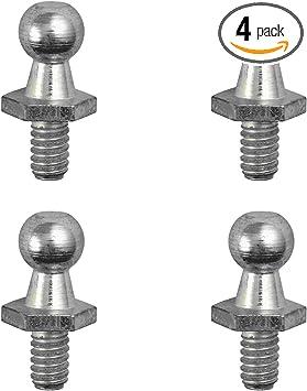 Car Ball Stud Bolt 4 Pack M8 Stainless Steel Ball Bolt for Gas Spring//Prop//Strut Ball Ended Bonnet