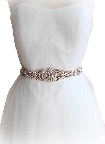 Jeweled Sashes for Wedding Dresses