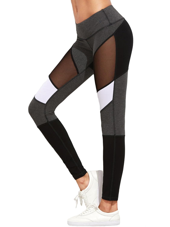 SOLY HUX Mujer Leggins Yoga Pantalon Elastico Cintura Alta Para Correr Pilates Fitness