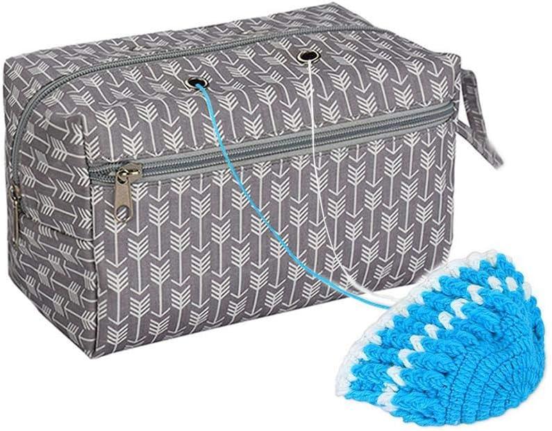 wisedwell Aufbewahrungstasche f/ür Wolle Tragbare Leicht Handtaschen Wolle Tasche Aufbewahrung zum Stricken H/äkeln Stricktasche
