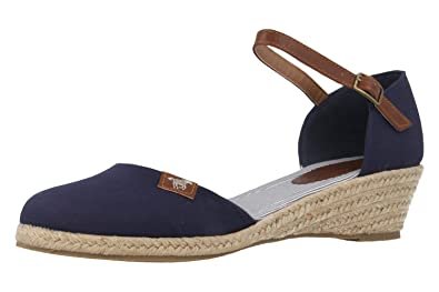 7e43802c7ef0 Mustang - Damen Keil-Sandaletten - Blau Schuhe in Übergrößen, Größe ...