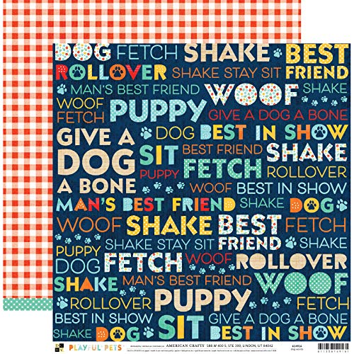DCWV 614916 Dog Words Paper Multi ()