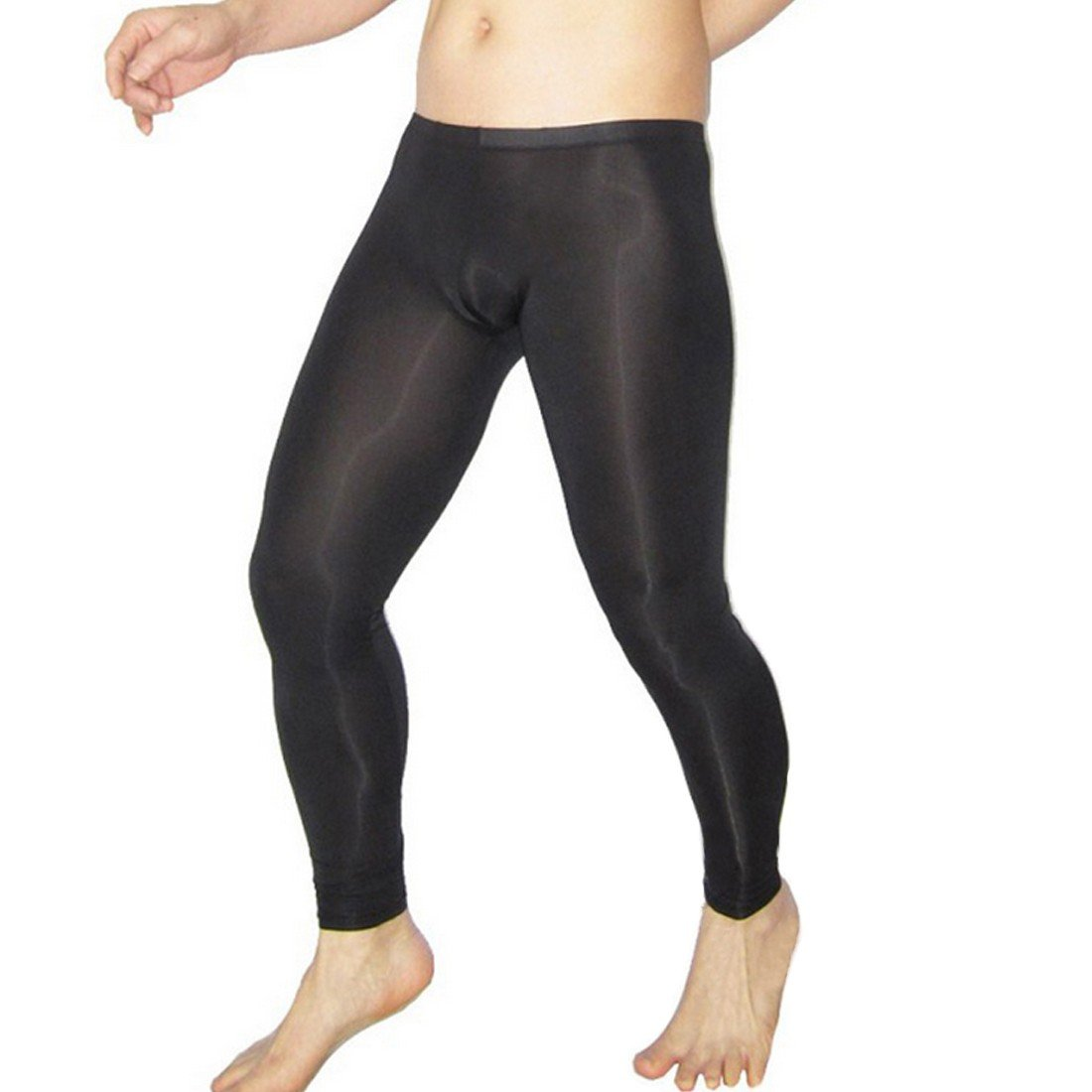 273dcfb336a4d Amazon.com: Freebily Mens Sexy Sheer Mesh Leggings Long Johns Pants Stretch  See-through Underwear: Clothing