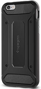 Spigen Neo Hybrid Carbon iPhone 6S Case with Carbon Fiber Design and Reinforced Hard Bumper Frame for iPhone 6S 2015 - Gunmetal