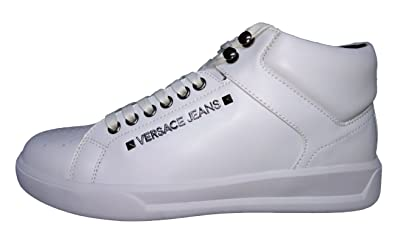 Versace Jeans E0yqbsh4, Baskets Montantes Homme - Blanc - Bianco, 44 ... c75eff5a7f6