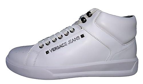 Versace Jeans Hombre E0yqbsh4 Zapatillas Altas Blanco Size: 40: Amazon.es: Zapatos y complementos