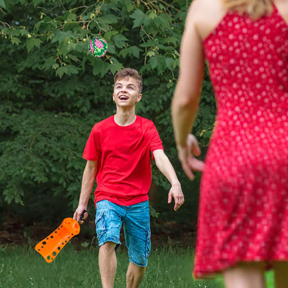16 PCs Sports Outdoor Games Set with Scoop Ball Toss, Toss and Catch Games, Tennis Racket Sports Toy, Slingshot Rocket Copters Water Toys for Kids by FUN LITTLE TOYS (Image #4)