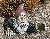 Zombie Gnome With Peeling Flesh and Bones Crawling Reaching For Prey Garden Yard Decor Statue